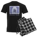 Standard Poodle (White) Men's Dark Pajamas