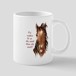 Horse Mall Humor Quote Mug
