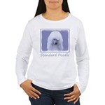 Standard Poodle (White Women's Long Sleeve T-Shirt