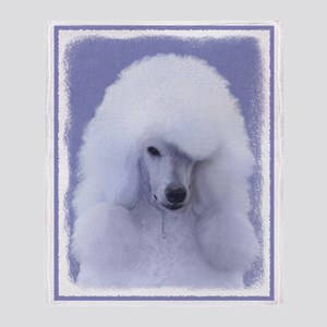 Standard Poodle (White) Throw Blanket