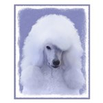Standard Poodle (White) Small Poster