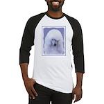 Standard Poodle (White) Baseball Tee