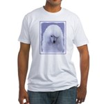 Standard Poodle (White) Fitted T-Shirt