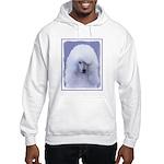 Standard Poodle (White) Hooded Sweatshirt