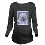 Standard Poodle (Whi Long Sleeve Maternity T-Shirt