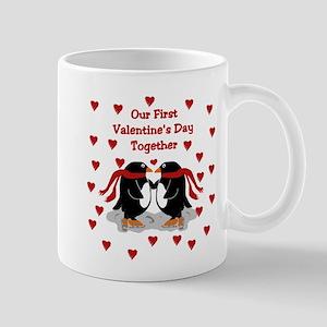 Penguins First Valentine's Day Together Mug