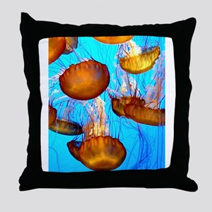 jellyfish madness Throw Pillow
