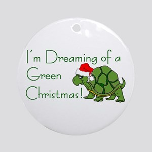 Dreaming of a Green Xmas Ornament (Round)