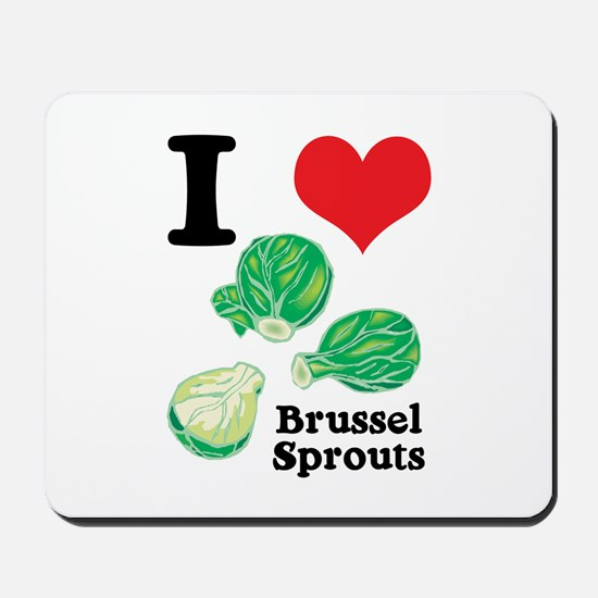 I Heart (Love) Brussel Sprouts Mousepad