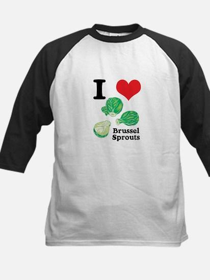 I Heart (Love) Brussel Sprouts Kids Baseball Jerse