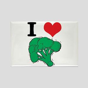 I Love (Heart) Broccoli Rectangle Magnet