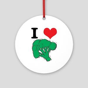 I Love (Heart) Broccoli Ornament (Round)
