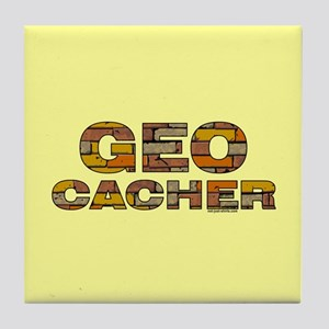 Geocacher Bricks Tile Coaster