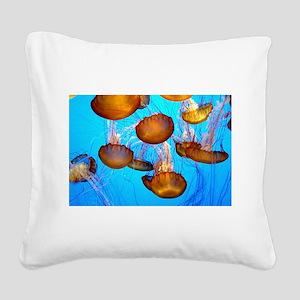 Jellyfish marmalade Square Canvas Pillow