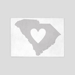 Heart South Carolina 5'x7'Area Rug