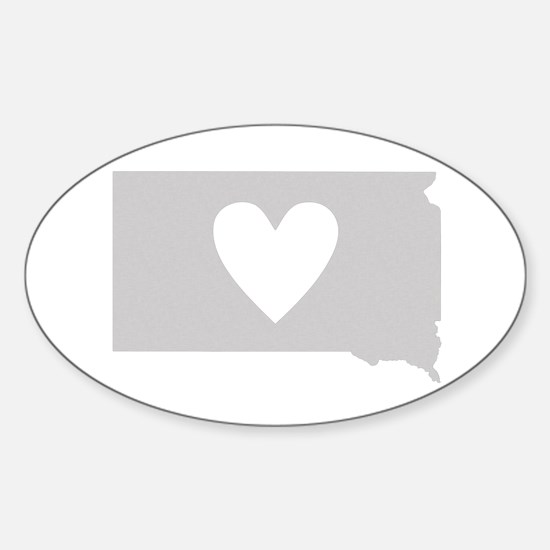 Heart South Dakota Sticker (Oval)