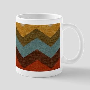 Southwestern Burlap Chevron Zigzags Mug