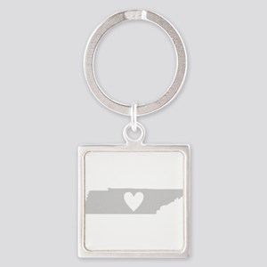 Heart Tennessee Square Keychain