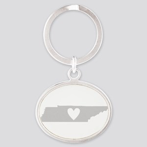 Heart Tennessee Oval Keychain