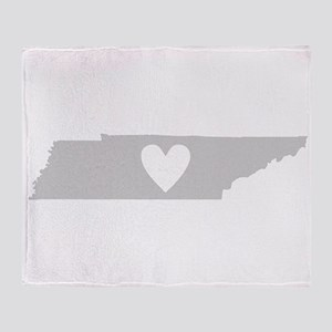 Heart Tennessee Throw Blanket