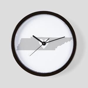 Heart Tennessee Wall Clock