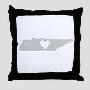 Heart Tennessee Throw Pillow