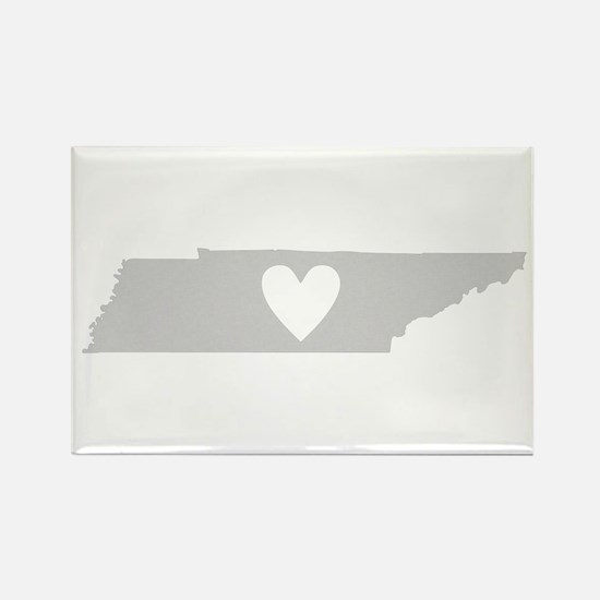 Heart Tennessee Rectangle Magnet