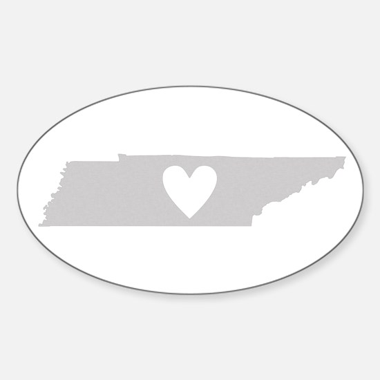 Heart Tennessee Sticker (Oval)