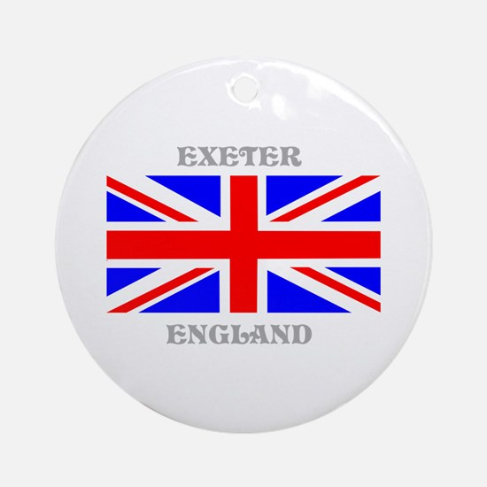 Exeter England Ornament (Round)