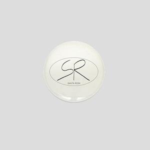Santa Rosa in Oval Mini Button