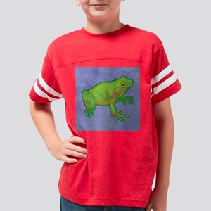 duvetQueenGrnTreeFrog Youth Football Shirt