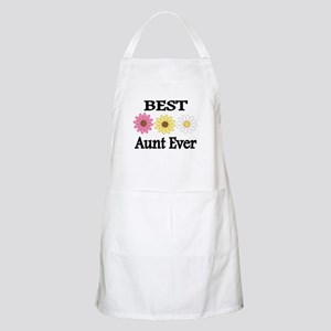 BEST AUNT EVER WITH FLOWERS Apron