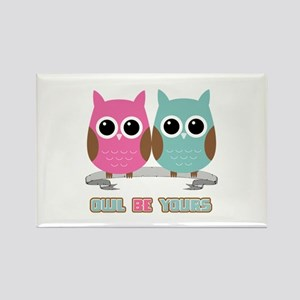 Owl Be Yours Rectangle Magnet