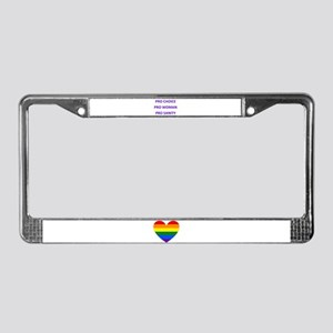 PRO WOMAN PRO CHOICE PRO SANIT License Plate Frame