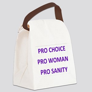 PRO CHOICE WOMAN SANITY Canvas Lunch Bag