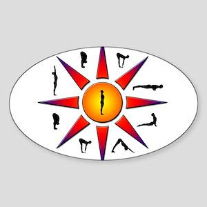 Sun Salutation Oval Sticker