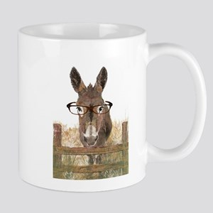 Humorous Smart Ass Donkey Painting Small Mugs