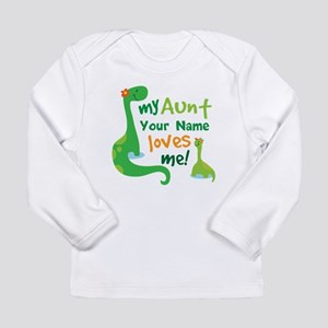 Personalized My Aunt Loves Me Long Sleeve T-Shirt
