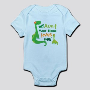 Aunt baby clothes accessories cafepress personalized my aunt loves me body suit negle Image collections