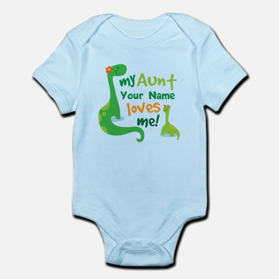 Aunt baby clothes cafepress personalized my aunt loves me body suit negle Choice Image