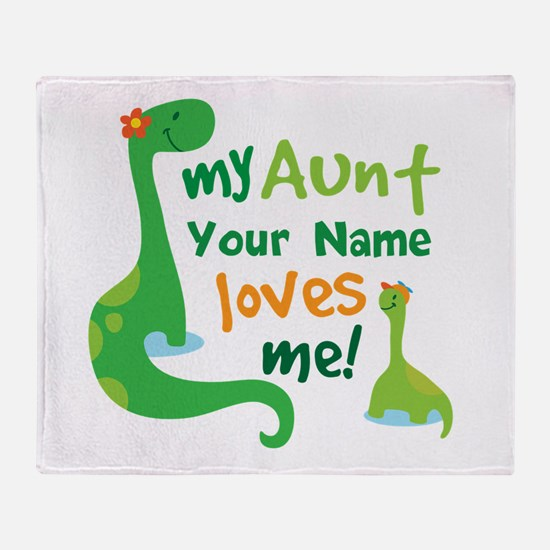 Personalized My Aunt Loves Me Throw Blanket