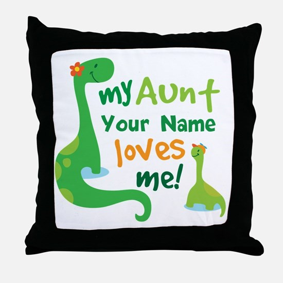 Personalized My Aunt Loves Me Throw Pillow