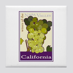 Wines of the Napa Valley, Cal Tile Coaster