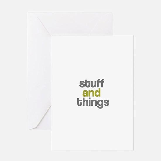 Stuff Thangs Greeting Card