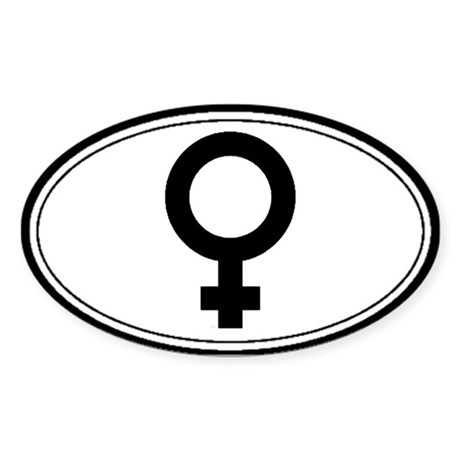 Feminist Symbol Oval Sticker