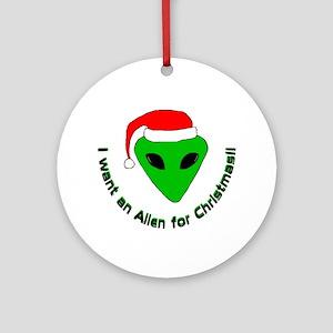 Christmas Alien Ornament (Round)