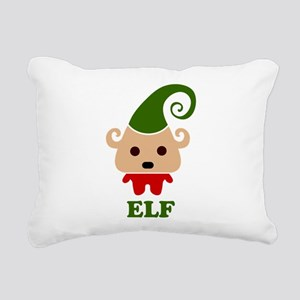 Happy Elf Rectangular Canvas Pillow
