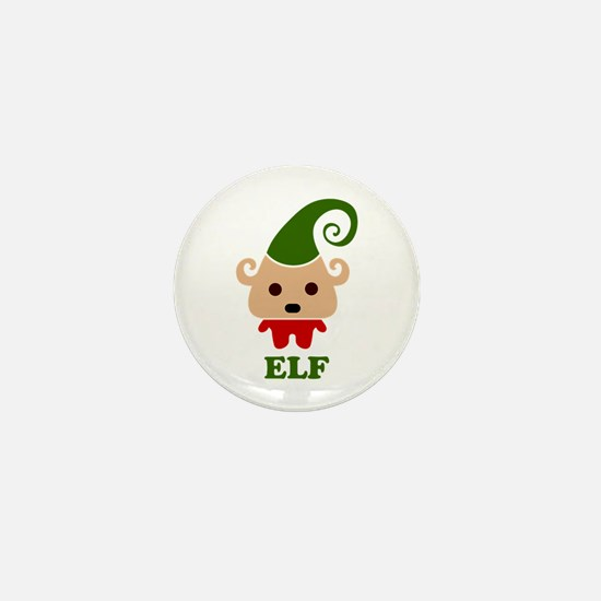 Happy Elf Mini Button