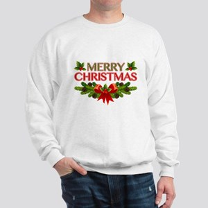 Merry Christmas Berries & Holly Sweatshirt