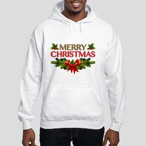 Merry Christmas Berries & Holly Hooded Sweatshirt